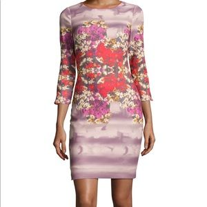 3/4 Sleeve Floral Shift Dress BADGLEY MISCHKA